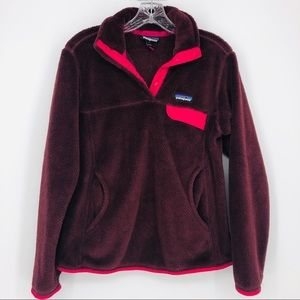 Patagonia Re Tool Snap Fleece Pullover Wine